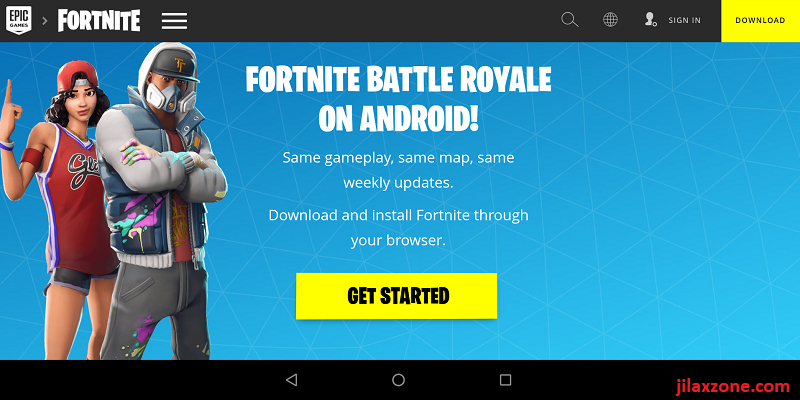 Fortnite Android get started jilaxzone.com