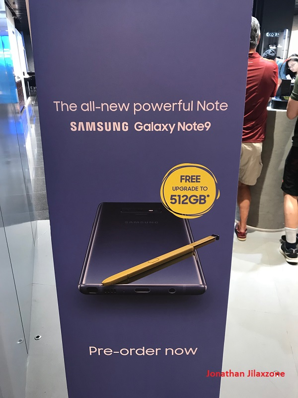 Samsung Galaxy Note 9 preorder promotion free upgrade to 512GB jilaxzone.com