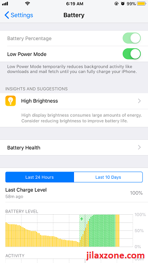 iOS12 Battery Features and Info jilaxzone.com
