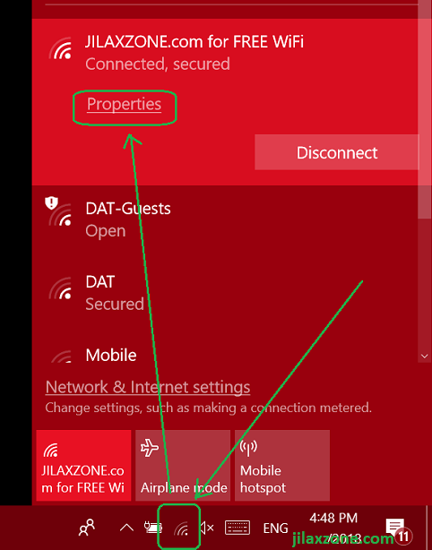 1. wifi metered connection wifi properties jilaxzone.com 3