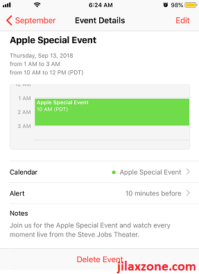 Apple Special Event 2018 save it to your calendar jilaxzone.com