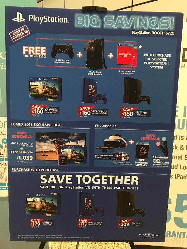 Comex 2018 jilaxzone.com PlayStation 4 Promotions