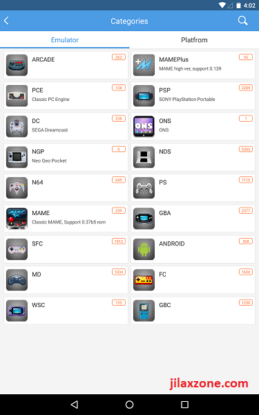 Happy Chick List of Game Console Emulators supported jilaxzone.com