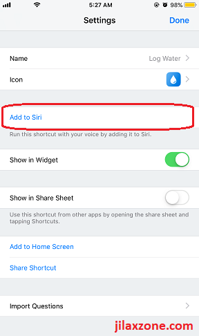 Siri Shortcuts create siri shortcuts jilaxzone.com