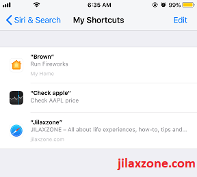 iOS 12 Siri Shortcuts All my Siri Shortcuts jilaxzone.com