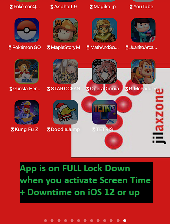 ios 12 Screen Time downtime app lock down jilaxzone.com