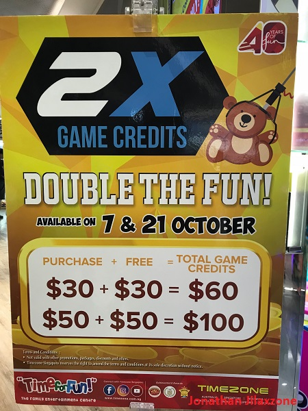 timezone singapore promotion double game credit jilaxzone.com