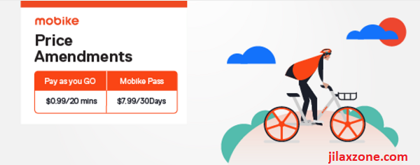 Cheapest Bike Sharing Singapore Mobike promo jilaxzone.com