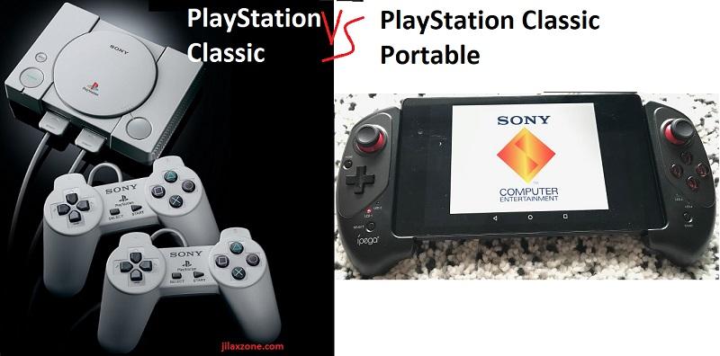 PlayStation Classic vs PlayStation Classic Portable jilaxzone.com