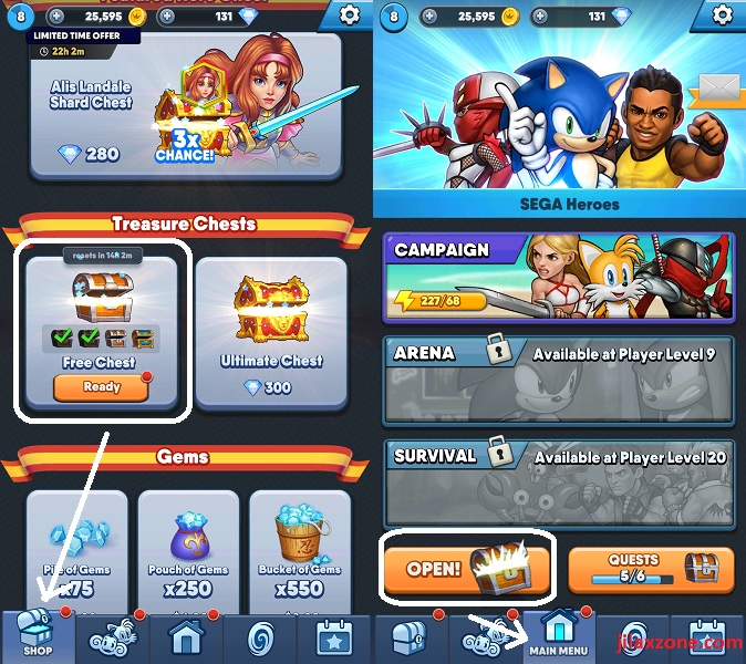 Sega Heroes Cheats Tips Tricks FREE Chests jilaxzone.com