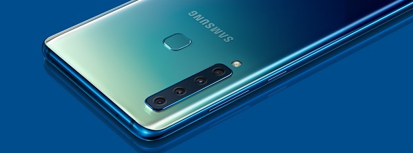 Samsung Galaxy A9 phone with 4 cameras jilaxzone.com