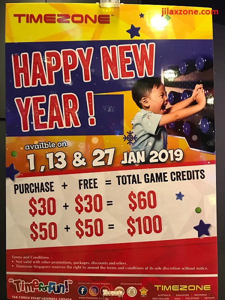 Singapore Timezone Promotion January 2019 jilaxzone.com