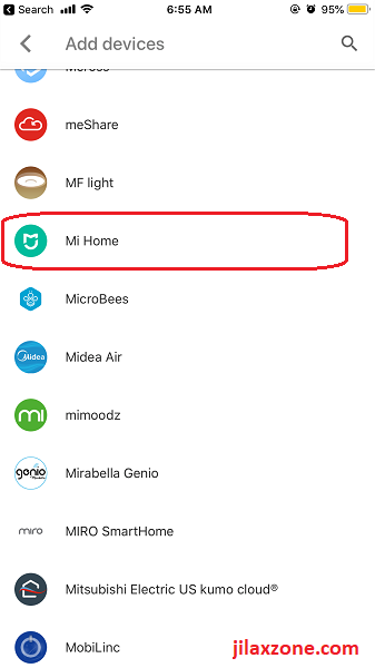 Connect Google Home to Xiaomi Mi Home add Mi Home jilaxzone.com
