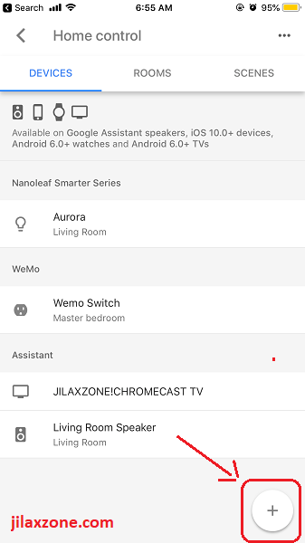 Connect Google Home to Xiaomi Mi Home add device jilaxzone.com