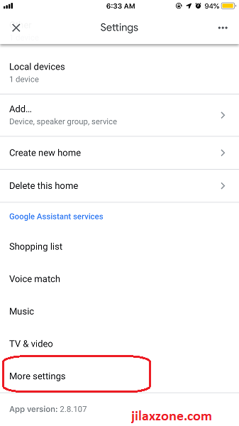 Connect Xiaomi Mi Home with Google Home More Settings jilaxzone.com
