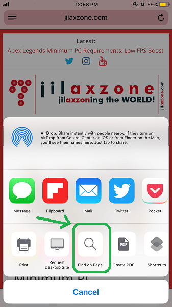 Search on Safari ios tips jilaxzone.com