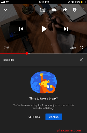 YouTube time reminder jilaxzone.com