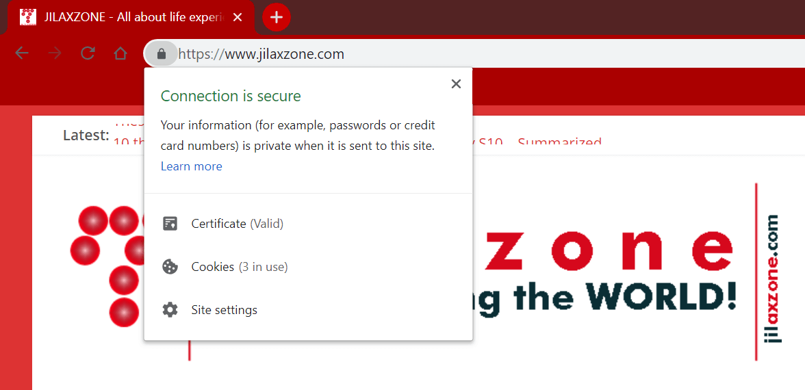 get https ssl on website jilaxzone.com