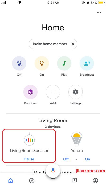 Google Home jilaxzone.com smart speaker setting