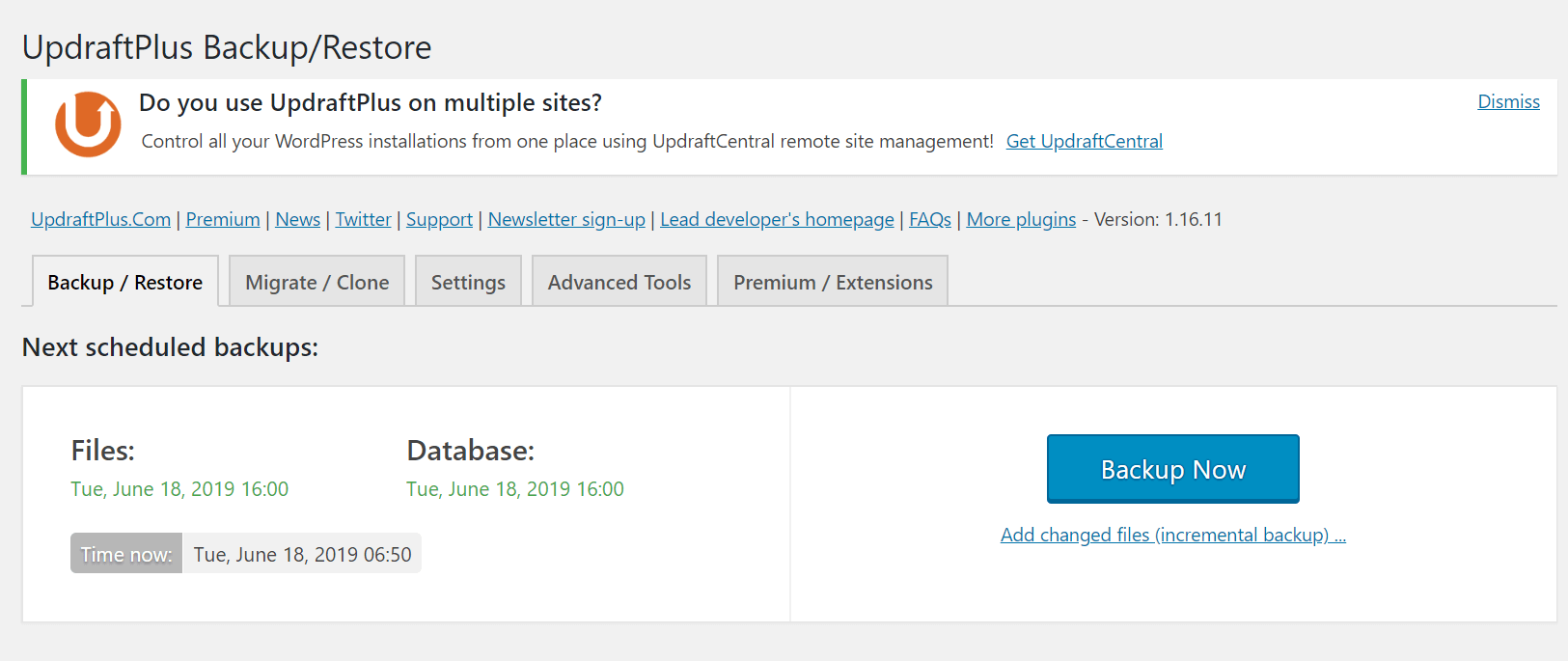wordpress jilaxzone.com updraftplus backup now