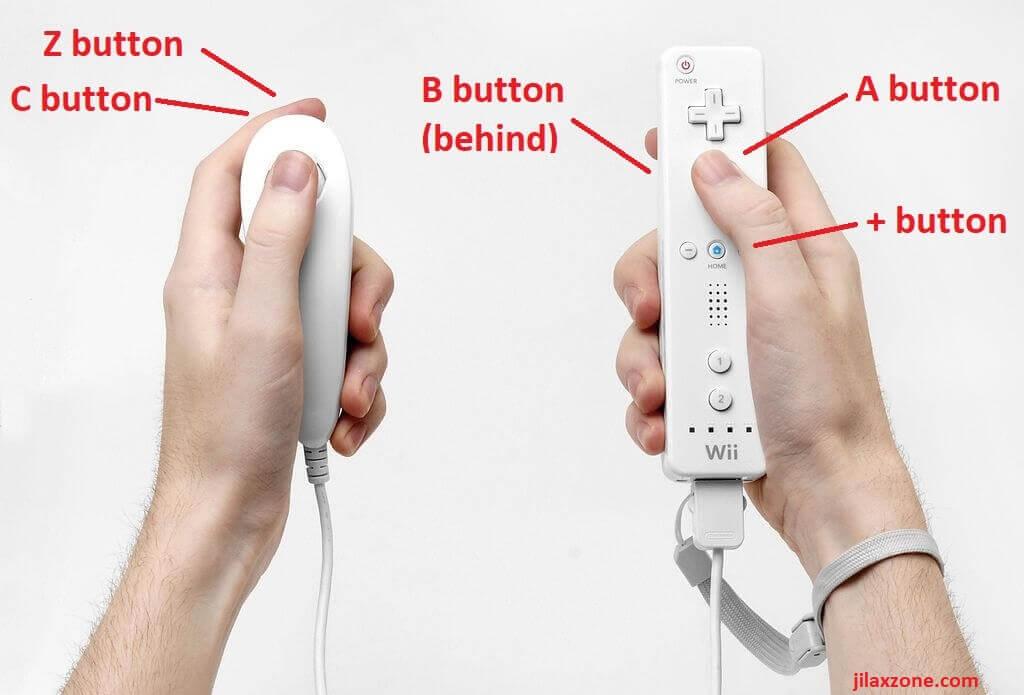 Nintendo Wii Wiimote and Nunchuck layout jilaxzone.com