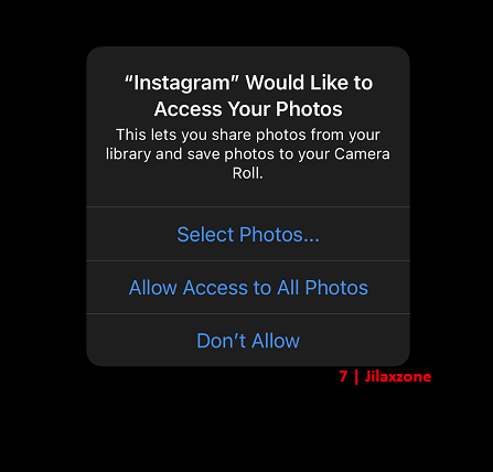 ios 14 video and photo access prompt don't allow jilaxzone.com