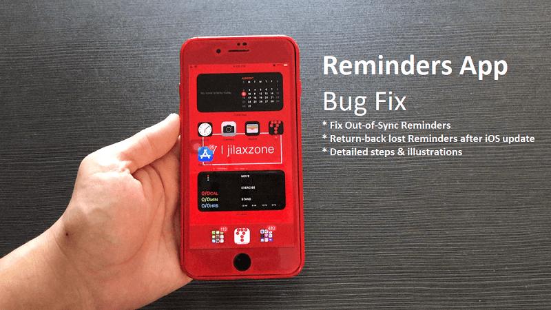 ios reminders app working bug fix jilaxzone.com
